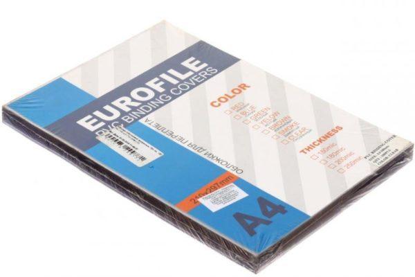 600x400 - Обложки для переплета ПВХ прозрачные, 0.20мм, А4, б/цв