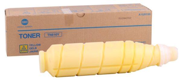 616 желый 600x266 - Тонер TN-616Y (yellow) Konica Minolta bizhub PRESS C6000, желтый, ресурс 41 800 стр.