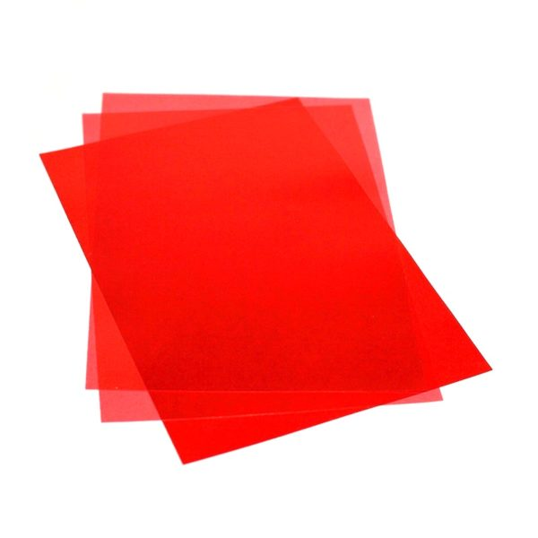красная 600x600 - Обложки для переплета ПВХ прозрачные, 0.18мм, А4, красный