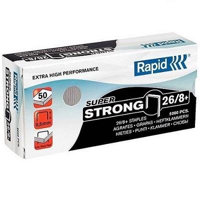 268 - Скобы Rapid 26/8+SUPER STRONG (5000 шт.)