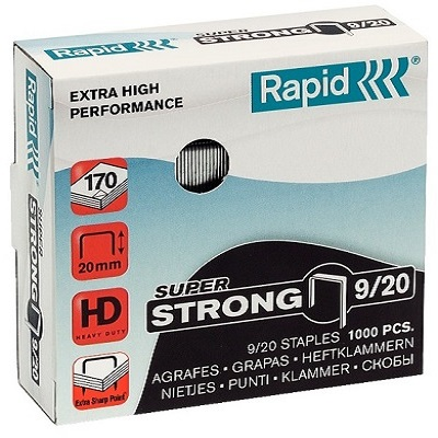 920 - Скобы Rapid 9/20 STRONG (1000 шт.)