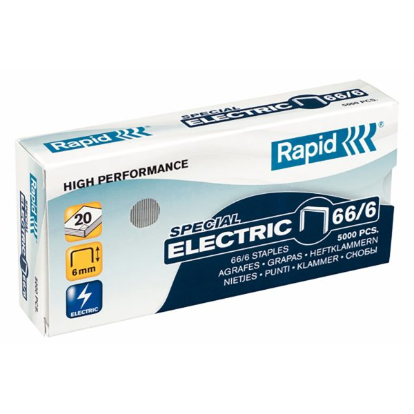 rapid 66 6 6mm staples box 5000 2010 05 12 LRG 1 600x600 - Скобы Rapid 66/6 SPECIAL ELECTRIC HIGH PERFORMANCE (5000 шт.)